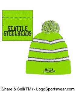 Seattle Steelheads Knit Beanie Design Zoom