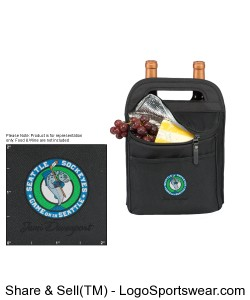 Sockeyes Wine and Cheese Carrying Bag Design Zoom