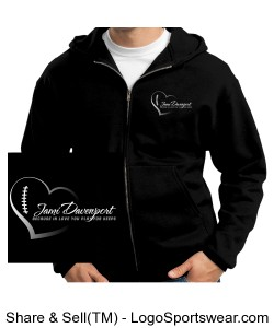 Full-zip hoodie with Logos Design Zoom