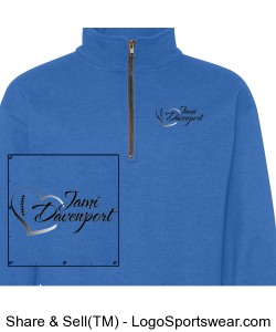 Adult 1/4 Zip Sweatshirt with Jami Logo Design Zoom